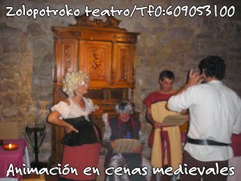 Animacion en cenas medievales