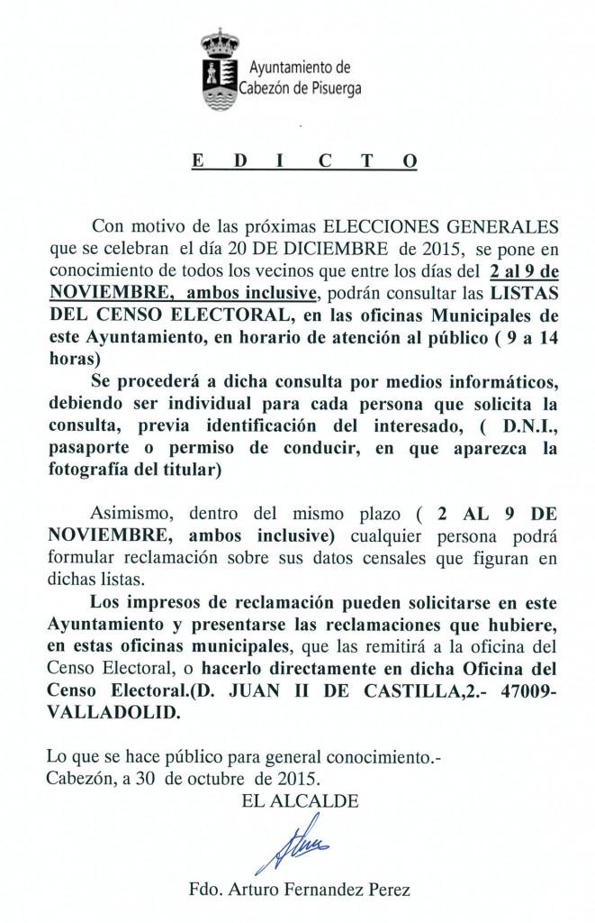 Consulta de las listas del censo electoral del 2 al 9 de for Oficina del censo electoral