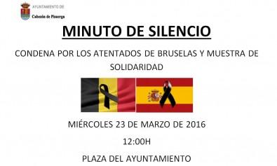Cabezón de Pisuerga guardará un minuto de silencio condenando los atentados  de Bruselas 83146a1dd8968