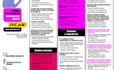 Cartel Información Juvenil de la Diputación de Valladolid del 16 al 31 de  marzo 9f773d103212e