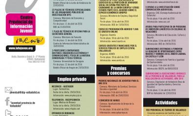 Cartel informativo Juvenil Diputación de Valladolid del 1 al 15 de abril d024550216add