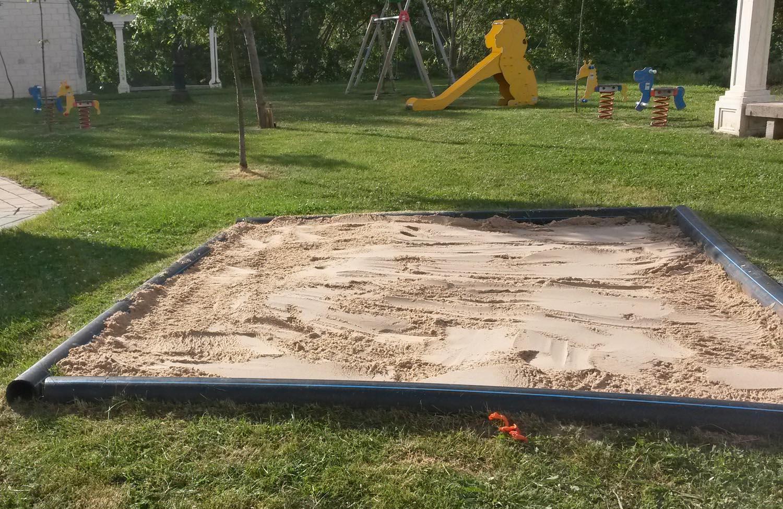 Reemplazo de la arena en los areneros de los parques - Areneros para ninos ...