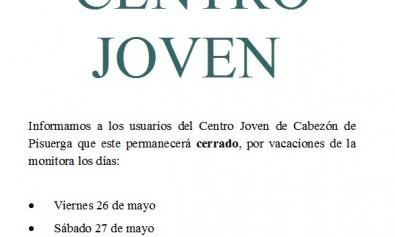 CentroJovenCerradoDias26y27demayo