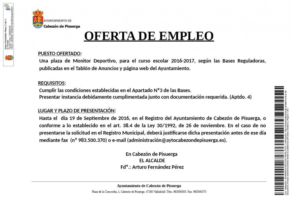 Solicitud ofertas de empleo