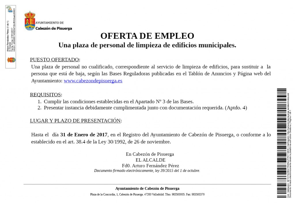 c997b0ba1a72f Lista definitiva de candidatos oferta de empleo  una plaza de limpieza de  edificios por sustitución.