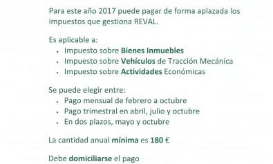 fraccionamiento de impuestos (REVAL)