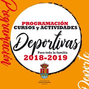 Programación actividades deportivas temporada 2018 - 2019 Cabezón de Pisuerga