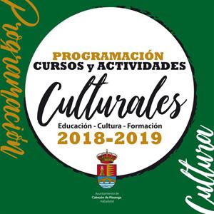 Programación cursos y actividades culturales 2018 - 2019 Cabezón de Pisuerga